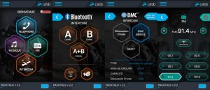 L'application Cardo, tres intuitive