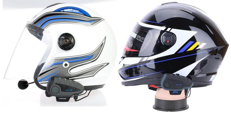 Comparaison entre un casque intégral et un jet avec l'intercom moto bluetooth Vnetphone V8
