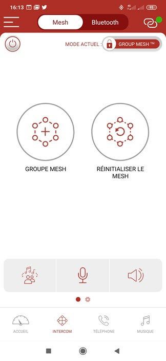 Configuration du Mesh avec l'application mobile Sena 50 Utility