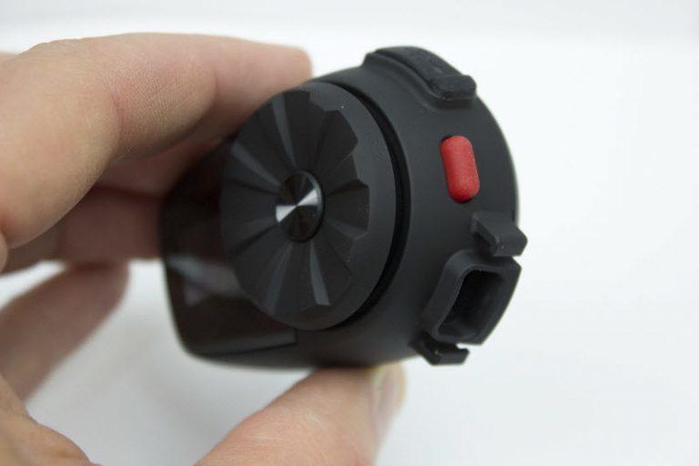 Vue arrière du Sena 5S avec bouton rouge